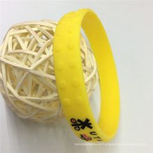 Embossed Printed Customized Silicone Bracelets Promotional Products