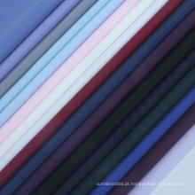 Tecido maciço de microfibra tecido macio para camisas de tecido liso