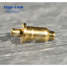 Double-Ended Spring Loaded Brass Contact Pin (no welding needed)