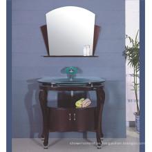 Gabinete de baño Expresso de madera maciza (B-604)