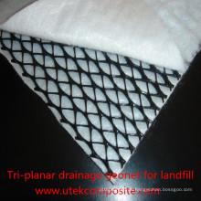 Tri-Planar Drainage Geonet Composite Geotextil für Deponie