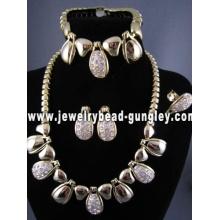 conjunto de colar de jóias de moda