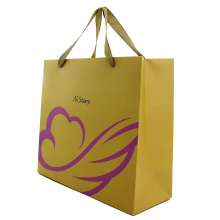 Pemegang Flat Brown Kraft Fancy Gift Bag Kertas