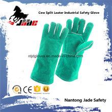 Green Cowhide Split Leder Arbeitsschutz Schweißen Hand Arbeit Handschuh