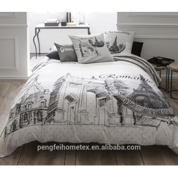 100% Polyester gebürstet und bedrucktes Gewebe für Bettwäsche