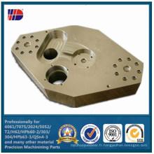 Pièces de précision en métal de l'aluminium 5052 de machine de commande numérique par ordinateur de haute précision