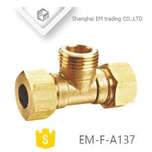 ЭМ-Ф-A137 продетый нитку NPT Тройник латунь Тип фитинга с двойной коннектор
