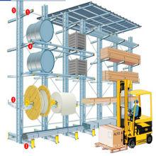 High storage density storage outdoor cantiliver scaffolding rack shelf