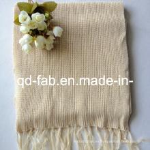 Bufanda teñida de algodón orgánico / cáñamo (HRS-5545)