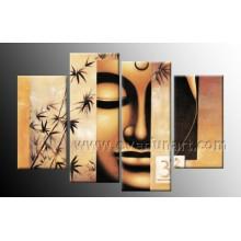 Moderne Segeltuch-Kunst Buddha-Malereien (BU-012)