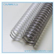 Прозрачная ПВХ + сталь усиленная труба для транспортировки