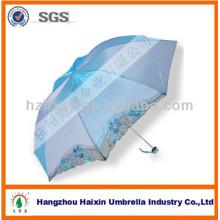 Belo sol e chuva mulheres guarda-chuva