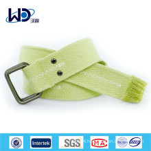 Durable double d ring canvas green belts