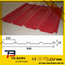 Color Coated long span aluminium roofing sheet for roofing made in China
