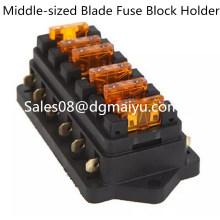 Universal Car Truck Vehicle 6 Way Circuit Automotive Blade Fuse Block Holder