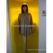 ladies' cashmere knitted poncho