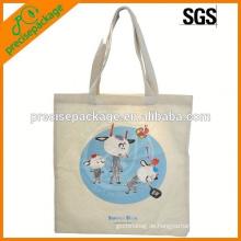 Siebdruck-Baumwolleinkaufstasche mit Karikaturdrucken