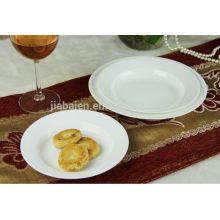 High quality fine bone china white soup plate dinner plate set