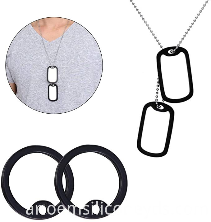 Silicone Rubber Silencers For Military Dog Tag