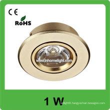 High Quality high power 1w AC 85v-265v round led ceiling light, 3 years warranty