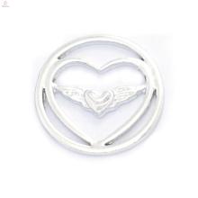 Fahion 22mm Design Silber Engel Flügel Schmuck liefert schwimmende Medaillons Platten