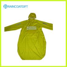 Unisex Long Sleeve Polyester PVC Raincoat (RPY-044)