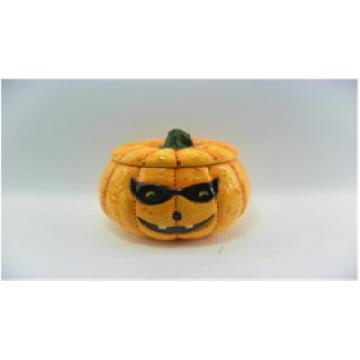 Calabaza de cerámica de velas de Halloween (YC14033)