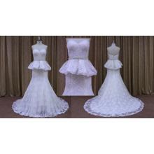 Lace Appliqued Bridal Wedding Dress