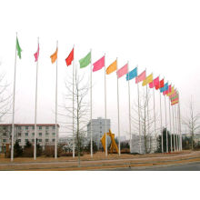 stainless steel flagpole,square flagpole,colored flags