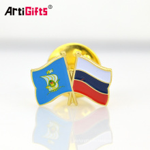 Custom high quality die cut struck soft enamel bulk flag lapel pin badges