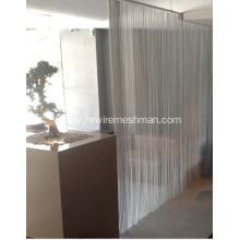 Stainless steel security drapery