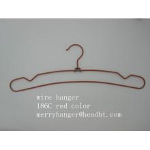 Gancho de Metal de alambre con las muescas en diferentes acabados para ropa bragas
