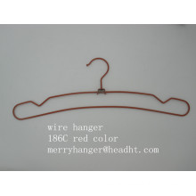 Wire Metal Hanger with Notches in Different Finishing for Pant Clothes