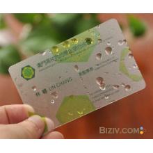 2015 Transparente mattierte PVC Visitenkarte
