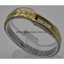 Bracelete de bronze de moda relógios de pulso para senhoras pequenas pulso