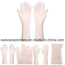 Women's Fresh Style Pure Cashmere Handschuhe mit rosa Farbe