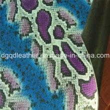 Cuero de doble cara con superficie de serpiente de cuero (QDL-SP029)