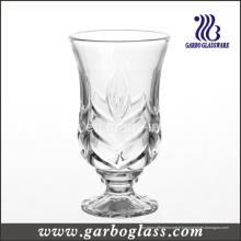 Tasse à thé en verre gravé à pied (GB040606VT)