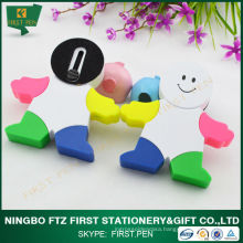 FIRST H058 Man Shape Multi Colored Highlighter Pen
