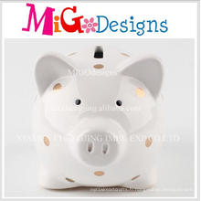 Factor fabriqué en forme de pièce de monnaie en forme de cochon en céramique adorable
