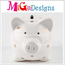 Factor Manufactured Adorable Ceramic Pig Shaped Coin Bank