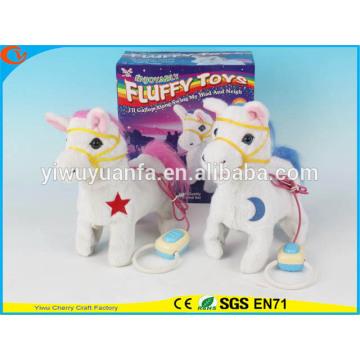 Novelty Design Kids' Toy Colorful Walking Electric Skip Stuffed Horse
