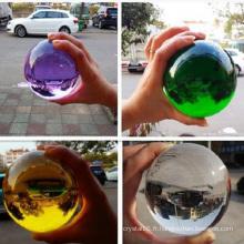 Boule de verre en cristal coloré en gros