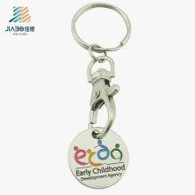 Atacado Personalizado Logotipo Presente Euro Trolley Moeda Token com Keychain Promoção