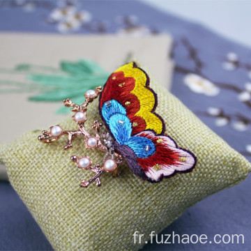 Broche de broderie traditionnelle chinoise