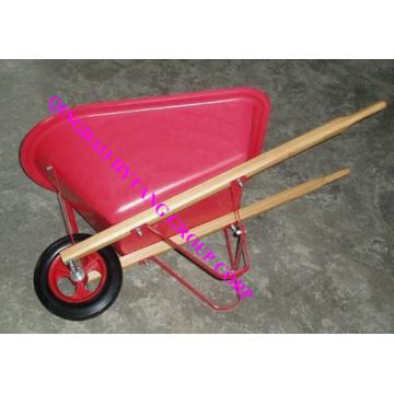 wooden handle 20L plastic tray  kid's wheelbarrow