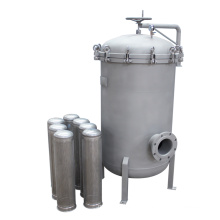 Stainless Steel Bag Filter Housing 0.5um Liquid Filtration Water Purifcation