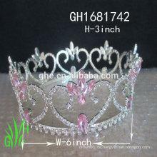 Neue Designs Rhinestone Royal Zubehör Rhinestone hohe Festzug Krone Tiara
