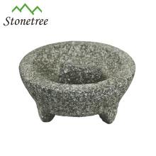 Wholesale Stone Molcajete And Tejolete Mortar And Pestle Herb Grinder Granite Molcajete