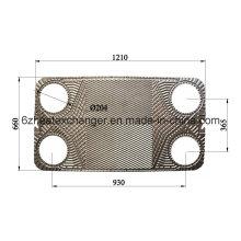 Placa y junta Ak20 para intercambiador de calor Similar as Alfalaval